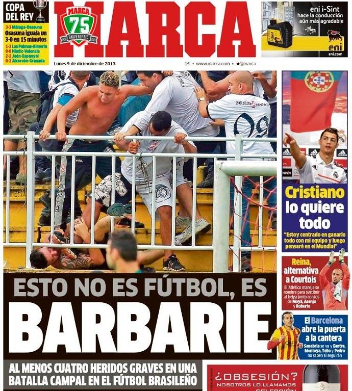 Capa do Marca sobre a briga (Foto: Reprodução/Internet)