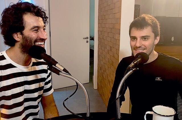 Guilherme Logullo entrevista Hugo Bonemer no seu podcast (Foto: Divulgação)