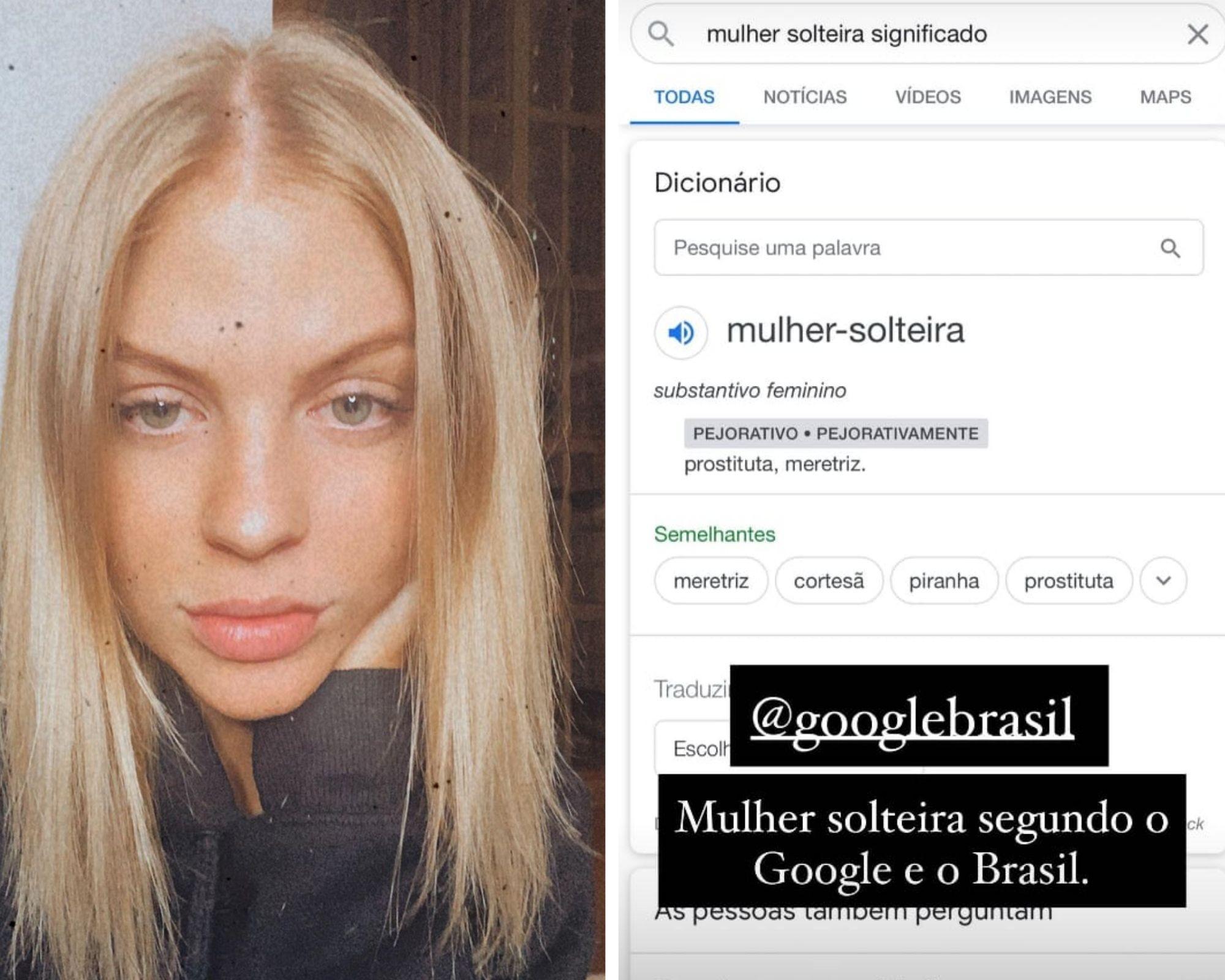 Luísa Sonza mostrou o resultado da pesquisa na internet (Foto: Reprodução/Instagram)