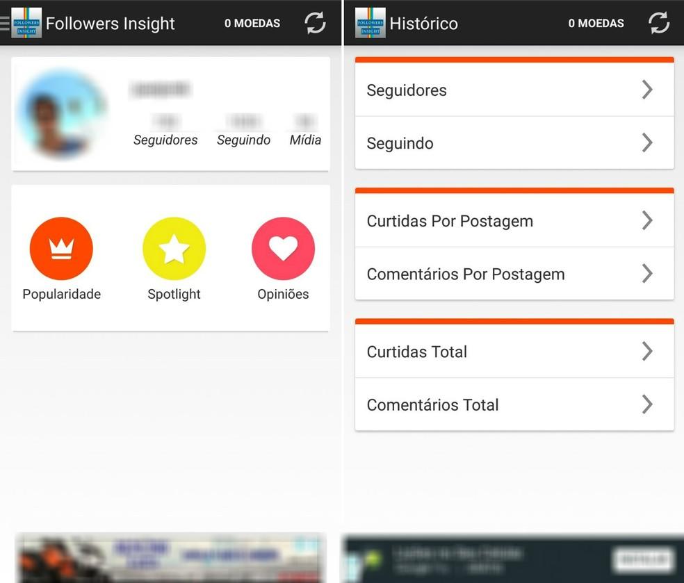 Disponível para Android e iOS, o Followers Insight mostra quem deixou de lhe seguir no Instagram (Foto: Reprodução/Rodrigo Fernandes)
