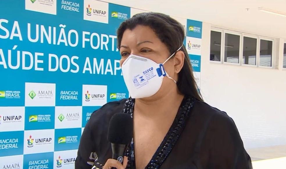 Maracy Andrade, secretária adjunta de Enfrentamento à Covid-19 no Amapá — Foto: Rede Amazônica/Reprodução