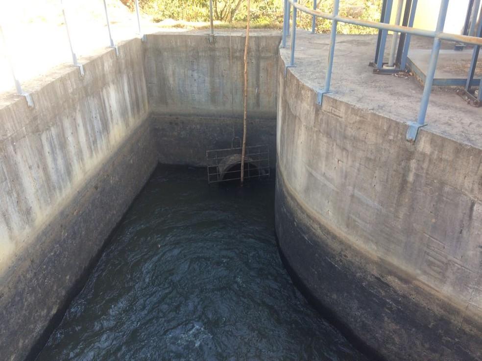 -  Nível de captação de água está 60% abaixo do normal em Formiga  Foto: Prefeitura de Formiga