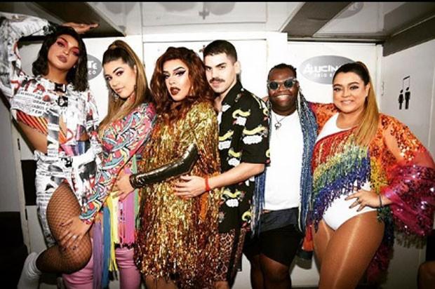Pabllo Vittar, Vivian Amorim, Gloria Groove, Mateus Carrilho e Only Fuego (Foto: Reprodução Instagram)