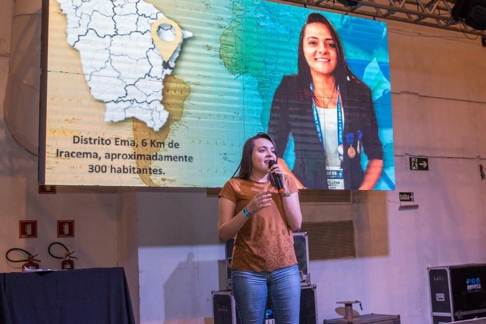 Myllena se destacou em pesquisas sobre o zika vírus e na descoberta de material que pode conter vazamentos de petróleo. — Foto: Arquivo Pessoal