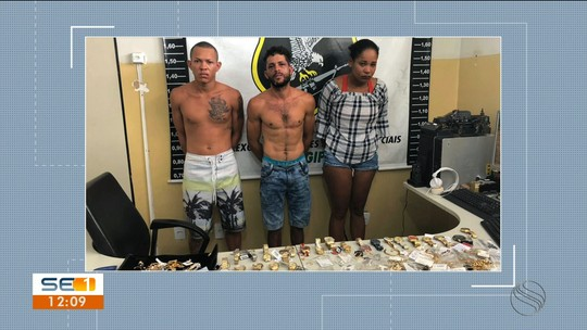 Três pessoas são presas suspeitas de participar de assalto em joalheria em Aracaju