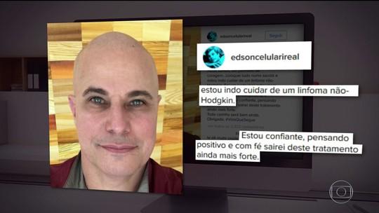Na internet, Edson Celulari diz que iniciou tratamento contra câncer raro