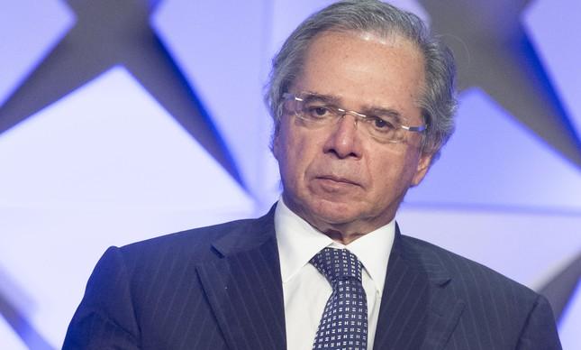 O ministro Paulo Guedes durante Fórum de Investimentos em São Paulo