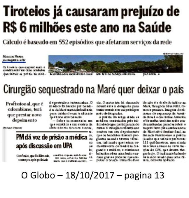 O Globo 18/10/2017 (Foto: O Globo)