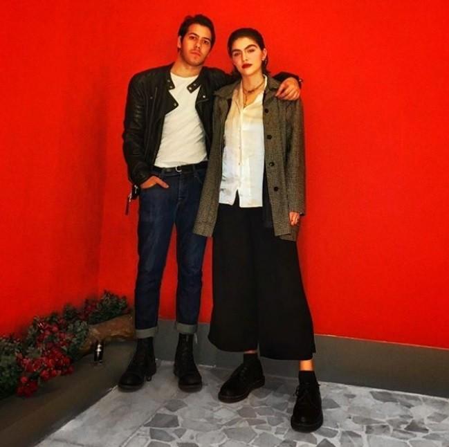 Antonio Benício e a namorada, Sofia (Foto: Reprodução)