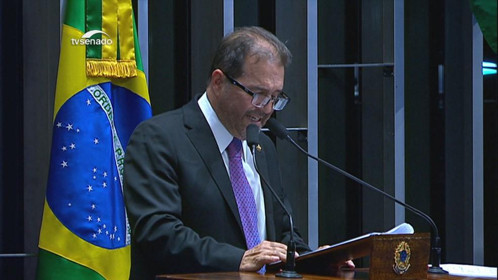 Ex-senador Eduardo Benedito Lopes — Foto: Reprodução/TV Globo