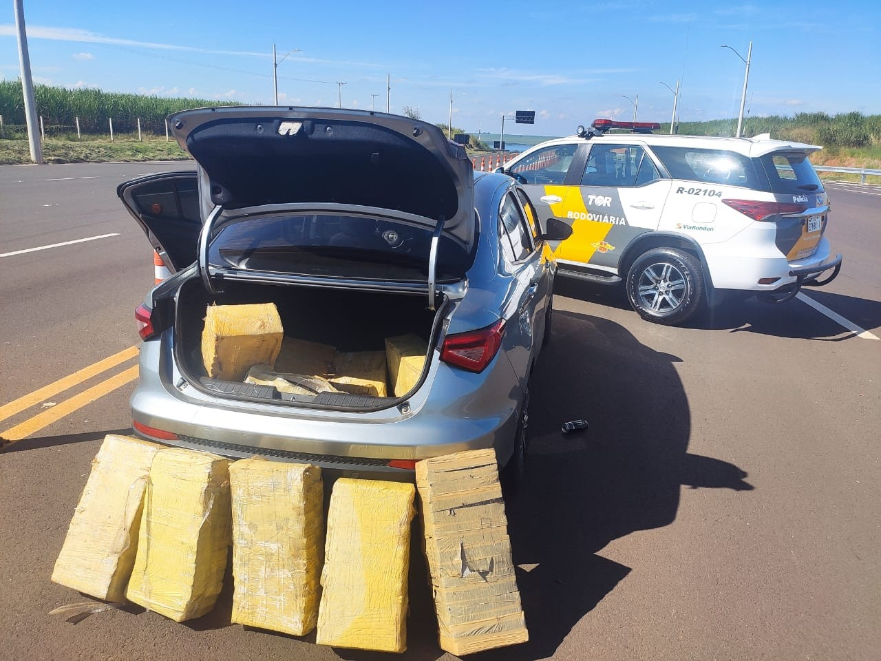 Homem é preso em flagrante transportando 110 tabletes de maconha em Pongaí