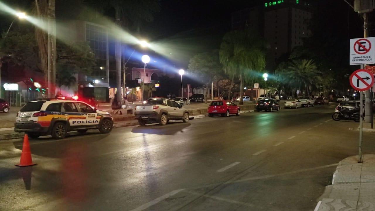 Com reforço no policiamento, avenida de Montes Claros não registra aglomeração