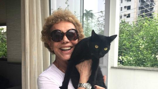 Arlete Salles declara o seu amor pelos bichos de estimação adotados e fala da rotina com eles