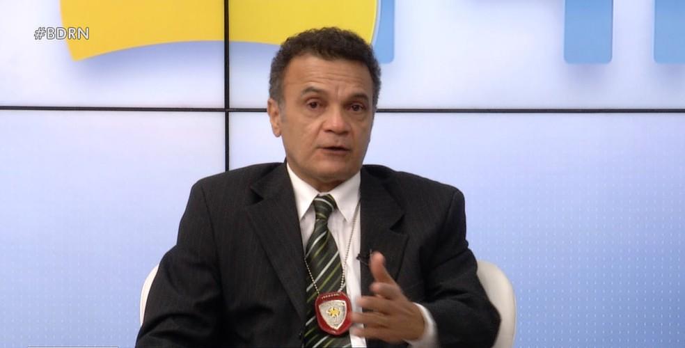 Marcus Vinícius, delegado da DHPP, fala sobre massacre de Alcaçuz — Foto: Reprodução/Inter TV Cabugi