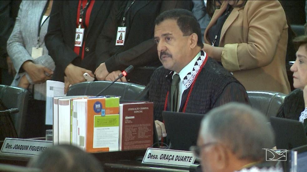 Desembargador José Joaquim Figueiredo dos Anjos é eleito o novo presidente do Tribunal de Justiça do Maranhão. (Foto: Reprodução/TV Mirante)