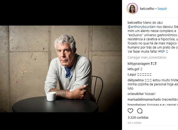 Post da chef Bel Coelho (Foto: Instagram/Reprodução)