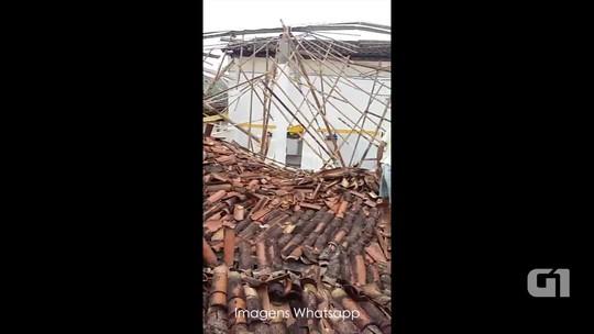 Teto de escola pública desaba na zona rural de Bonito; veja vídeo