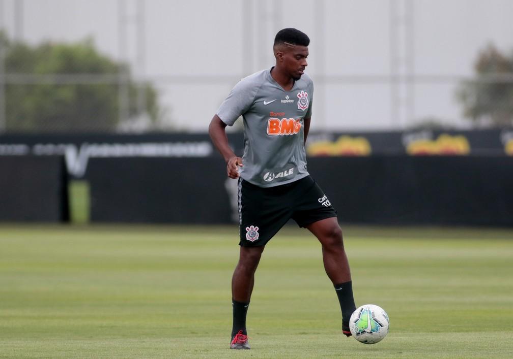 Jemerson no treino do Corinthians — Foto: Rodrigo Coca/Ag. Corinthians