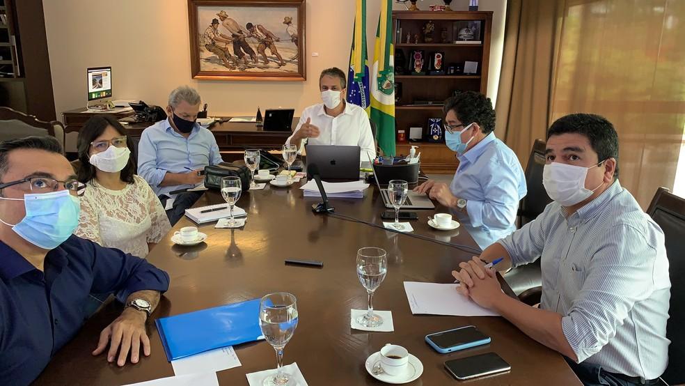 Reunião de comitê que define ações contra Covid-19 no Ceará foi antecipada — Foto: Governo do Estado/Divulgação