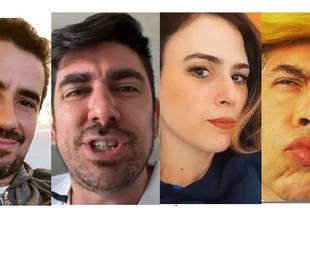 Felipe Andreoli, Marcelo Adnet, Tatá Werneck e Leandro Hassum foram alguns dos que postaram | Reprodução/Instagram