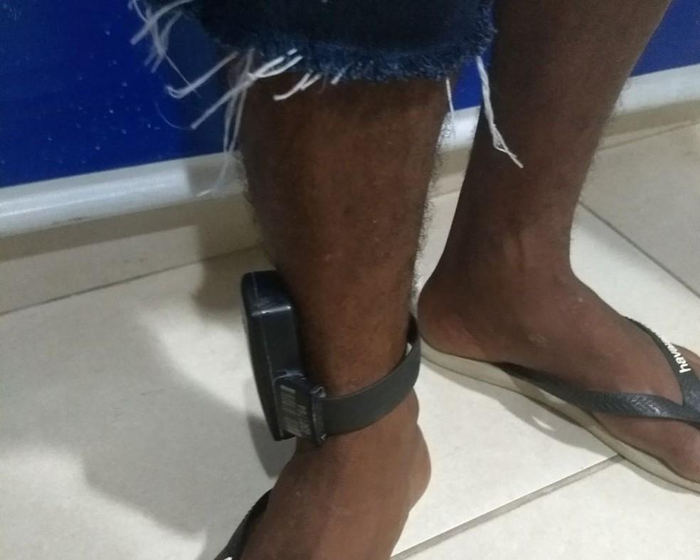 No RN, presos do semiaberto começaram a usar tornozeleiras eletrônicas em fevereiro de 2016 (Foto: Polícia Civil )