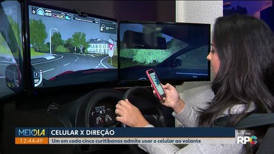 Um em cada cinco motoristas de Curitiba admite usar celular ao dirigir, aponta pesquisa