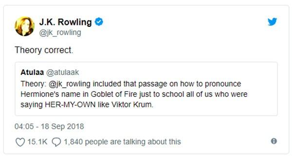 J.K. Rowling (Foto: Twitter)