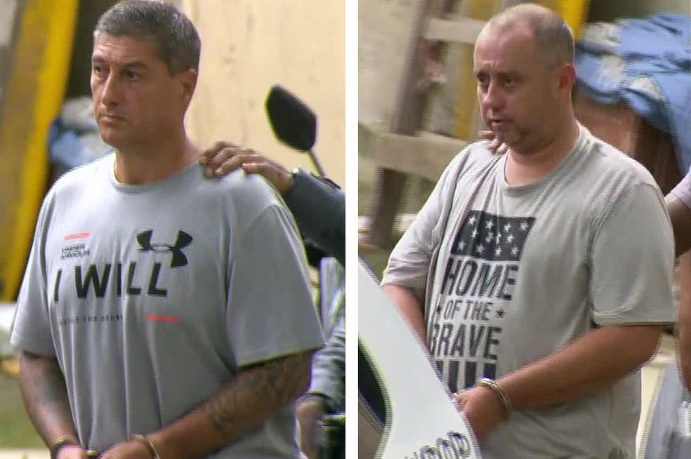 Ronnie Lessa e Élcio Queiroz foram transferidos na quinta-feira — Foto: Reprodução/TV Globo