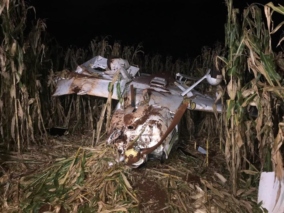 Segundo os sobreviventes, o avião saiu de Valinhos (SP), fez uma escala em Sertãozinho (SP) e pousaria em um aeroclube de Cascavel — Foto: Anna Flávia Nunes/RPC