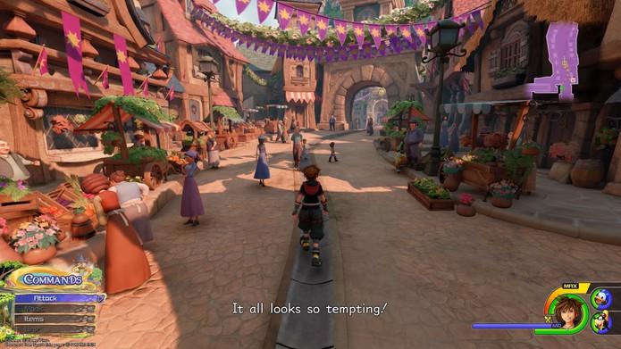 O Reino de Corona está presente em Kingdom Hearts 3 (Foto: Reprodução/Murilo Tunholi)