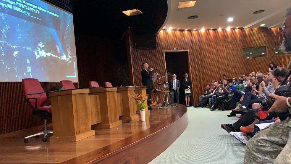 Lançamento do Cbers-4A foi acompanhado por técnicos do Inpe, em São José dos Campos — Foto: Daniela Lopes/ TV Vanguarda