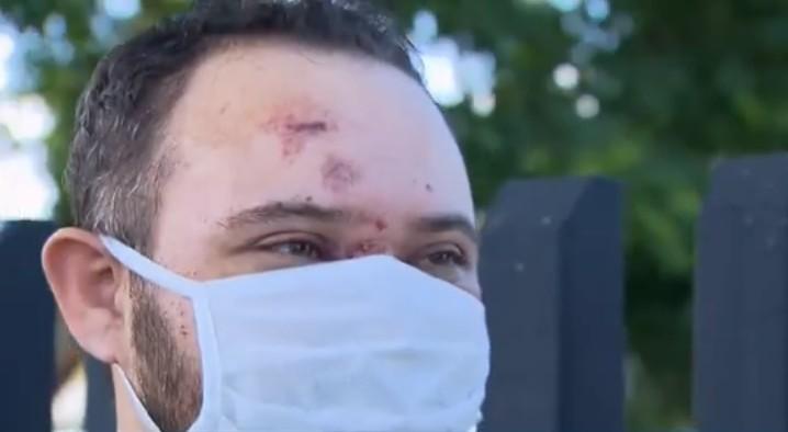 Motorista de micro-ônibus diz que trem estava com farol apagado no momento do acidente que matou uma mulher, em Curitiba