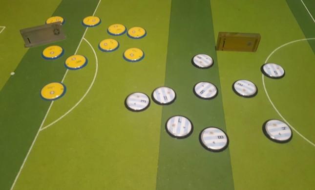 A mesa de botões sem os dois camisas 10