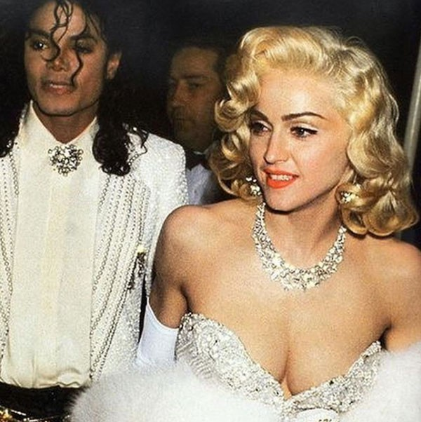 Madonna e Michael Jackson durante o Oscar de 1991 (Foto: Reprodução/Twitter)