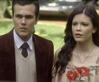 'Tempo de amar': Maria Vitória (Vitória Strada) e Vicente (Bruno Ferrari)  | TV Globo