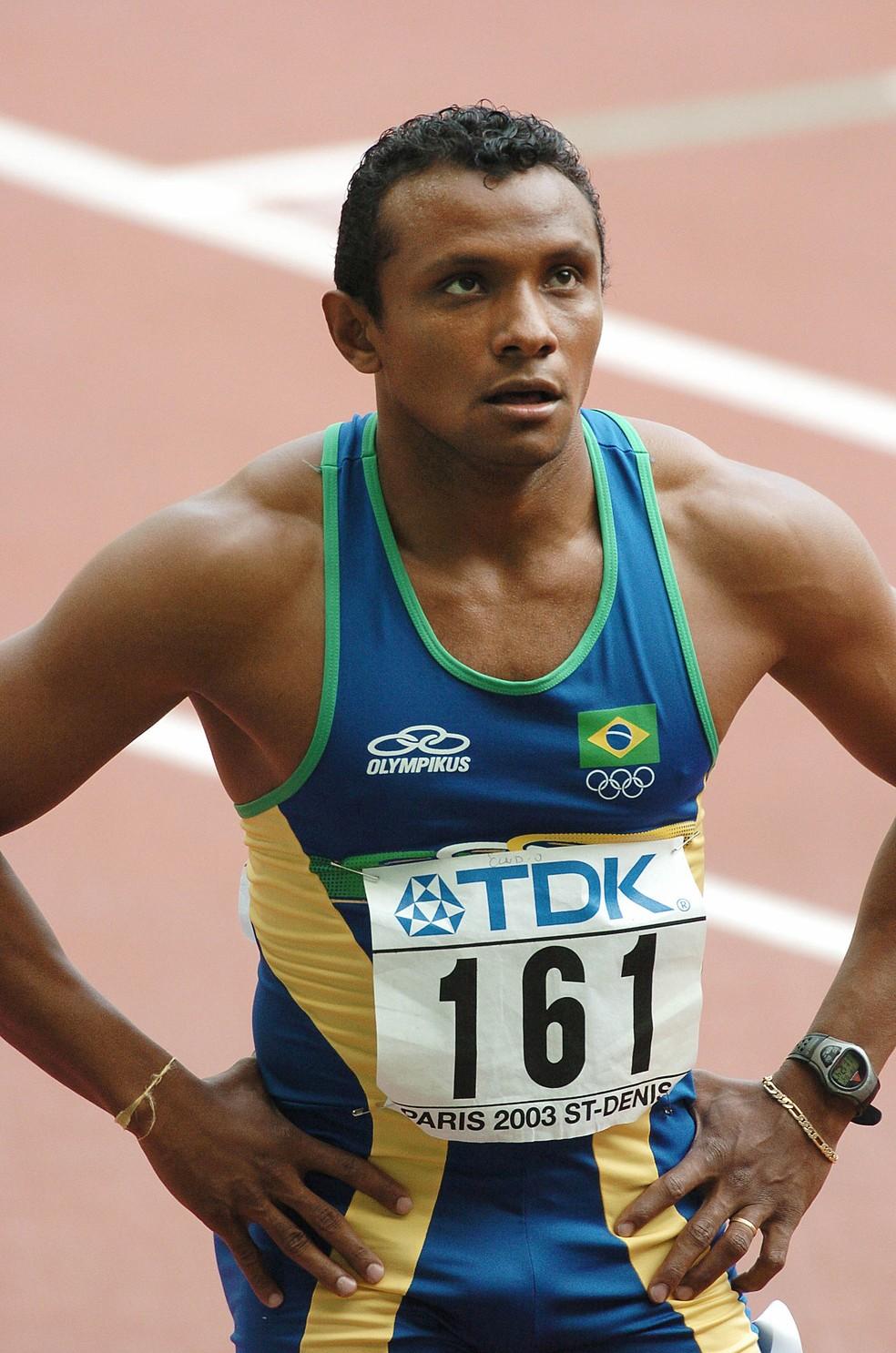 Cláudio Roberto Souza no Mundial de Paris, em 2003 — Foto: FRANCOIS XAVIER MARIT / AFP