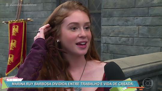 Marina Ruy Barbosa fala sobre vida de casada e retorno à TV: 'Tem que equilibrar as duas coisas'