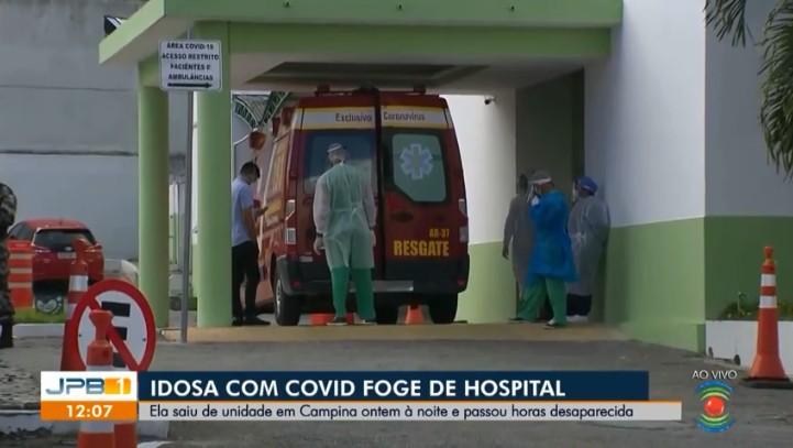 Idosa com Covid-19 que 'fugiu' de hospital sem recomendação médica é encontrada, na PB