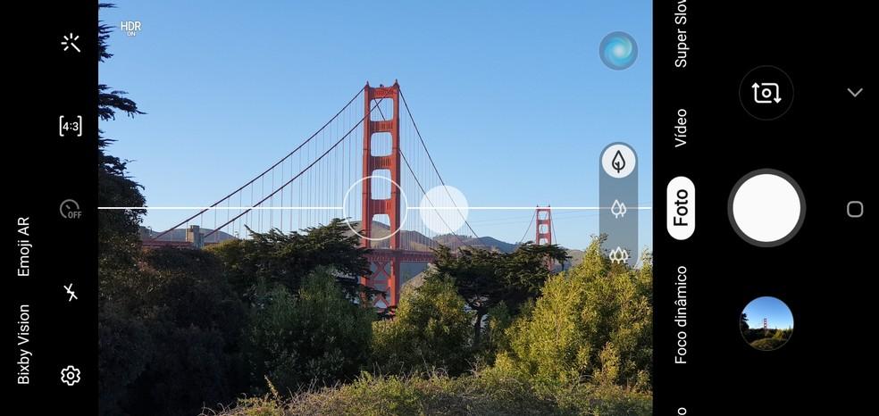 Galaxy S10 Plus: AI dá dicas para melhor enquadramento — Foto: Reprodução / TechTudo