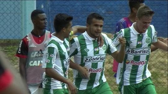 O gol de Juventude 1 x 0 Flamengo pela Copa RS de futebol sub-20