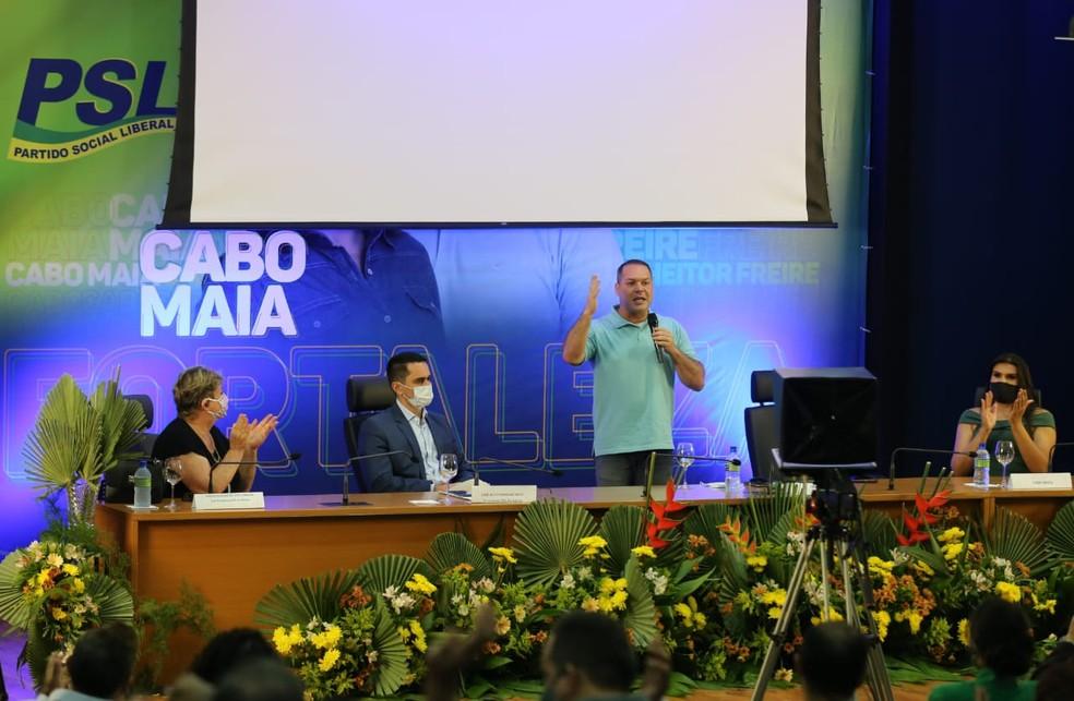 Heitor Freire é o candidato do PSL à Prefeitura de Fortaleza. — Foto: Fabiane de Paula