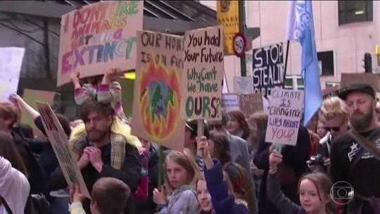Estudantes lideram protestos climáticos