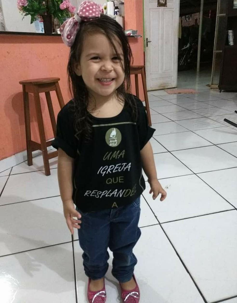 Ana Beatriz tinha 2 anos (Foto: Arquivo de família)