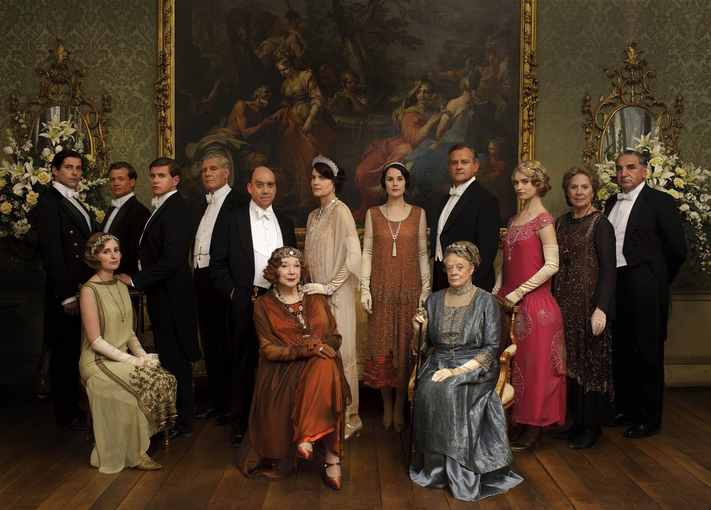O elenco da série 'Downton Abbey' — Foto: Divulgação