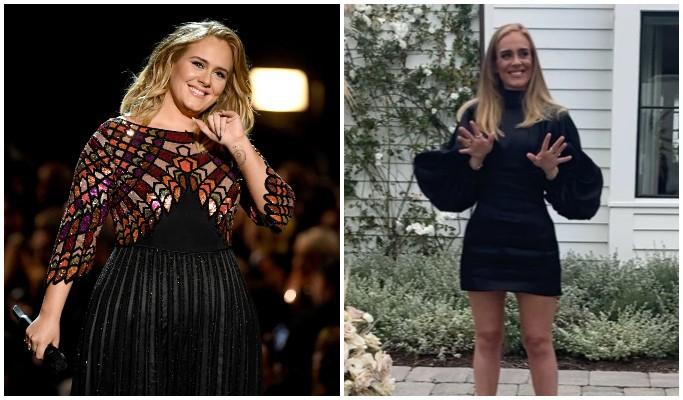 Antes e depois de Adele (Foto: Getty Images/Reprodução/Instagram)