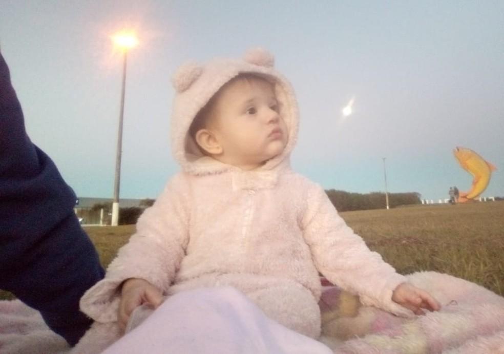 Menina de 11 meses que se afogou em Piraju está internada na UTI do HC de Botucatu — Foto: Paulo Roberto Ramos Andrade/Arquivo pessoal