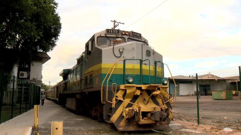 Ferrovia Vitória-Minas, no Espírito Santo (Foto: Arquivo/ TV Gazeta)