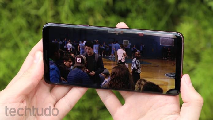Galaxy S9 Plus [marca] (Foto: Luciana Maline/TechTudo)