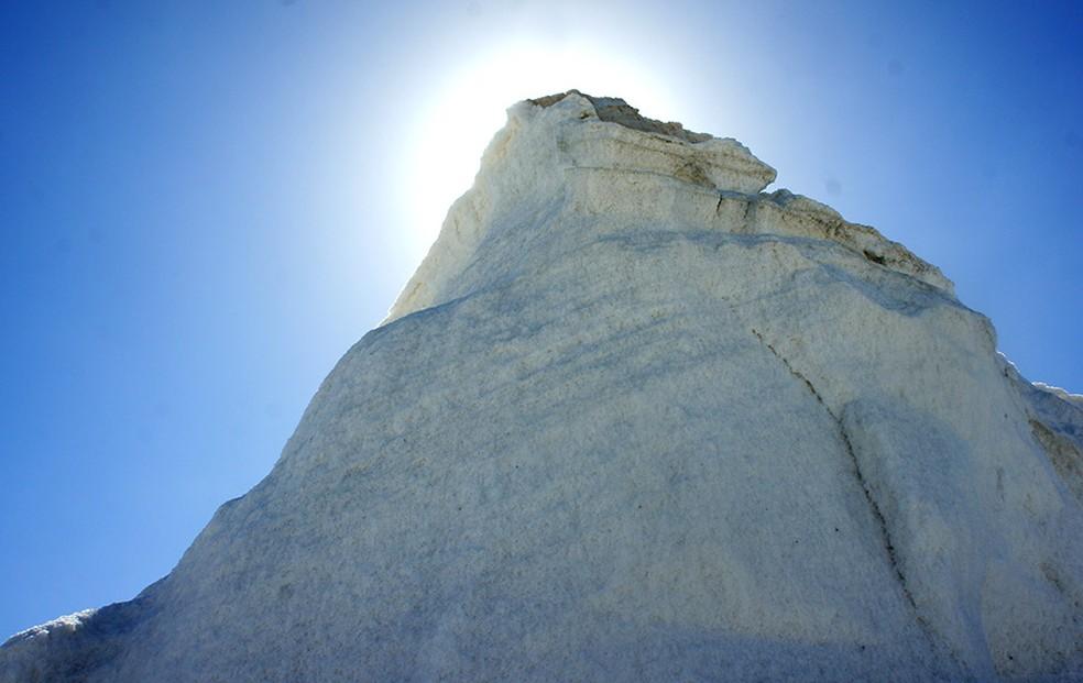 Município de Areia Branca, no litoral do RN, é um dos maiores produtores de sal do país — Foto: Anderson Barbosa/G1