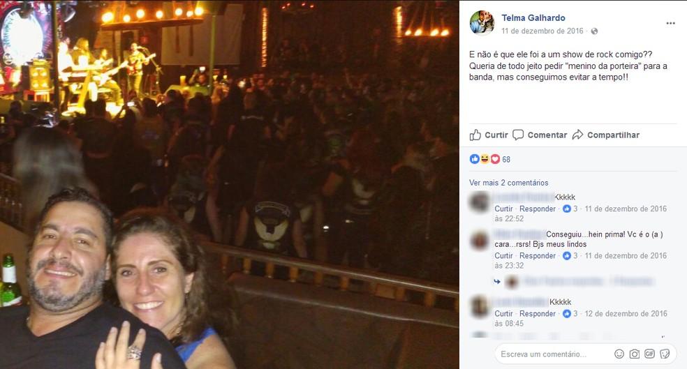 Feminicídio Suicídio Suzano Telma Galhardo (Foto: Reprodução/Facebook)